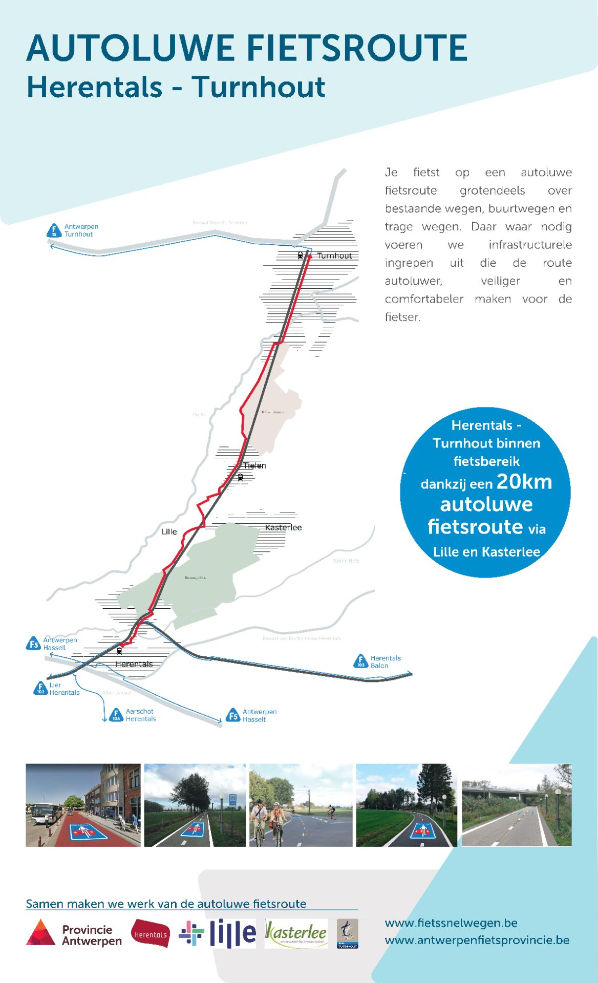 Infozuil autoluwe fietsroute Herentals-Turnhout